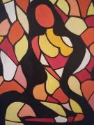 tableau personnages femme nu cubisme fauvisme : ahinui