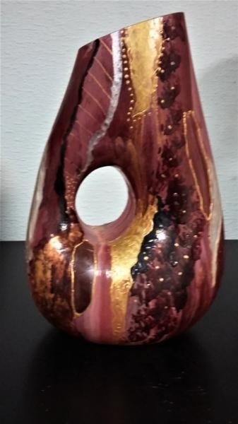 CéRAMIQUE, VERRE decoration maison peinture sur verre vase Abstrait  - vase
