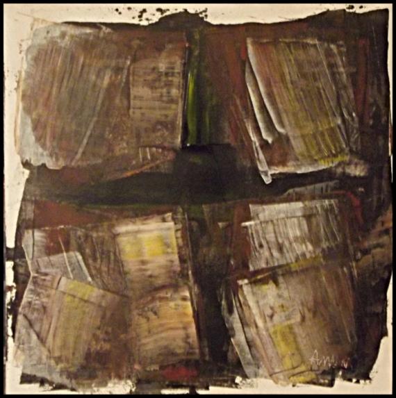 TABLEAU PEINTURE région PACA calanques marseille peinture Abstrait Acrylique  - sans titre