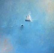 tableau abstrait abstrait ocean bleu reve : Voyage sur l'eau