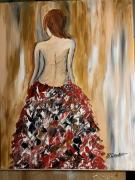 tableau personnages dos nu frou frou : femme dos nu