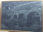 tableau paysages pont st pierre sur e fusain mayenne : pont de st Pierre sur Erve
