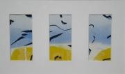 tableau abstrait triptyque abstrait 3d : Triptyque