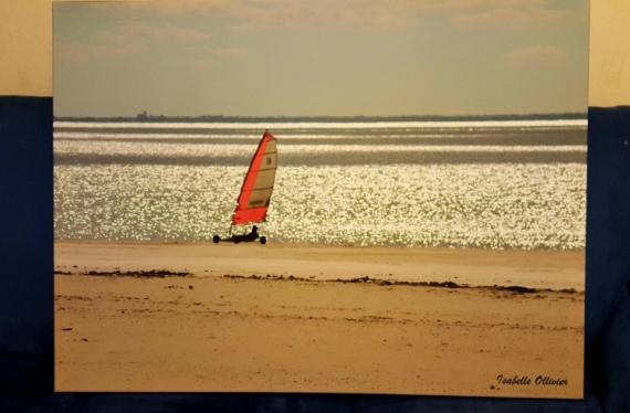 PHOTO Bâteaux Mer Océan Paysage Paysages  - Char à voile