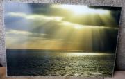 photo soleil mer ocean brillance : Soleil couchant