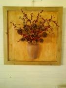 artisanat dart fleurs bonheur soleil montagne foret : Matin