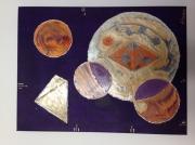 tableau abstrait egypte cosmos transformation geometrie : effluves galactiques