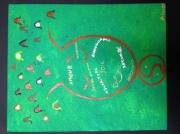 tableau abstrait amour mere enfant protection : Amour Maternel Universel