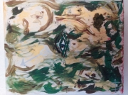 tableau abstrait femme sauvage nature elementaux : Femme Sauvage