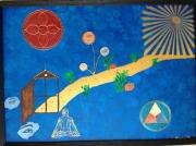tableau autres contemplation meditation zen sceau : contemplation