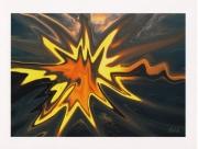art numerique paysages bretagne abstraction couleur mer : Morieux dépaysage
