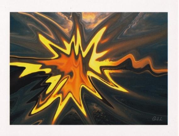ART NUMéRIQUE Bretagne abstraction couleur mer Paysages  - Morieux dépaysage