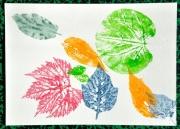 tableau autres feuilles impression nature couleur : Impression Sylvestre 2