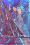 art numerique marine monotype abstraction couleur bateaux : Couleur océane