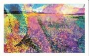 art numerique fleurs fleurs peinture photo couleur : Marguerites dorées