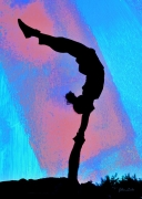 tableau personnages poster acrobates peinture photographie : Acrobates