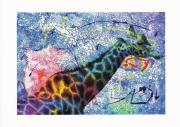 art numerique animaux carte animaux girafe peinture : Les bonheurs de Sophie