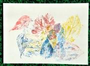tableau autres feuilles impression nature couleur : Impression Sylvestre 1