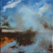 tableau paysages paysage ciel partir : partir en fumée