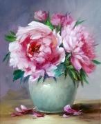 tableau fleurs roses fleurs art bouquet oeuvre romantisme creation : Bouquet de roses