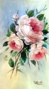 tableau fleurs flowers galerie crea painting artiste fig comtemporain art romantique : roses roses
