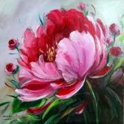 tableau fleurs flowers galerie crea painting artiste fig comtemporain art pivoines : Pivoines 2020