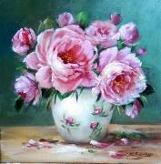 tableau fleurs flowers galerie crea painting artiste fig comtemporain art tableaux : Roses 2020