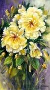 tableau fleurs roses peinture art decoration cadre comtemporain art galerie creation : Les roses jaunes