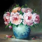 tableau fleurs flowers galerie crea roses fleurs decorat comtemporain art tableaux : Roses de printemps
