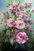 tableau fleurs galerie art painting artiste fig comtemporain art tableaux : Roses