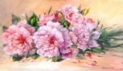 tableau fleurs pivoines tableau pei cadre decoration creation galerie : Pivoines du jardin