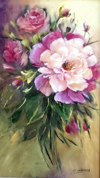 PAINTING peinture painting tableaux Fleurs Peinture a l'huile  - Les roses 2017
