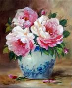 tableau fleurs galerie original art roses fleurs decoration comte : Les roses de l artiste