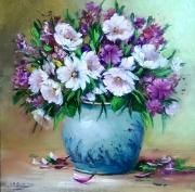 tableau fleurs fleurs galerie creat painting artiste fig comtemporain art : Bouquet fleuri
