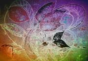 photo abstrait oiseau vol feuiiage pastel : vol printanier