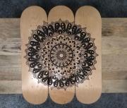 deco design autres mandalas skate posca skateboard : A13