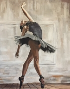 tableau personnages danseuse ballet femme tutu : LA BALLERINE