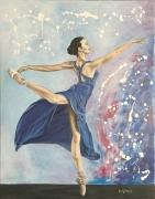tableau personnages femme ballerine danseuse drape : Le Ballet