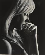 tableau personnages femme blonde contrejour lumiere : Blonde à contre jour n°26