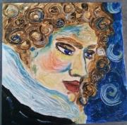 tableau personnages visage homme mozart rimbaud : Ange solaire