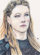 dessin personnages lagertha lothbrok vikings portrait femme serie cinema : LAGERTHA LOTHBROK
