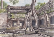 tableau paysages angkor temple cambodge siem reap : TEMPLE ANGKOR