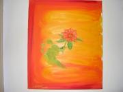 tableau nature morte nature fleur paysage pied : la fleur au pied