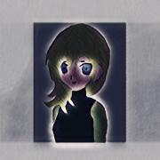 art numerique personnages indigo manga fille couleur art numerique : Indigo