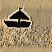 art numerique marine sienne bateau couleur art numerique : Sienne 14