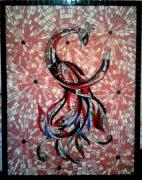 artisanat dart animaux mosaique phoenix phenix emaux : Phoenix divin