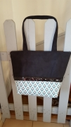 art textile mode abstrait sac cabas suedine coton : sac cabas