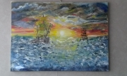 tableau marine beaune : bateau tempête