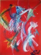 tableau abstrait barbie turique rouge : Barbie Turique..(P)...180688