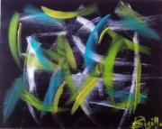 tableau abstrait eclairs tenebreux noir : Eclaires Ténébreux..(M)...180690